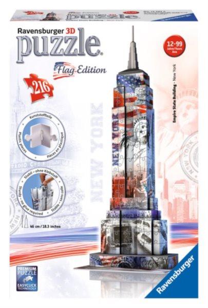RAVENSBURGER 3D puzzle Empire State Building (vlajková edice) 216 dílků