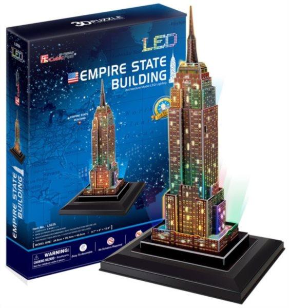 CUBICFUN Svítící 3D puzzle Empire State Building 38 dílků