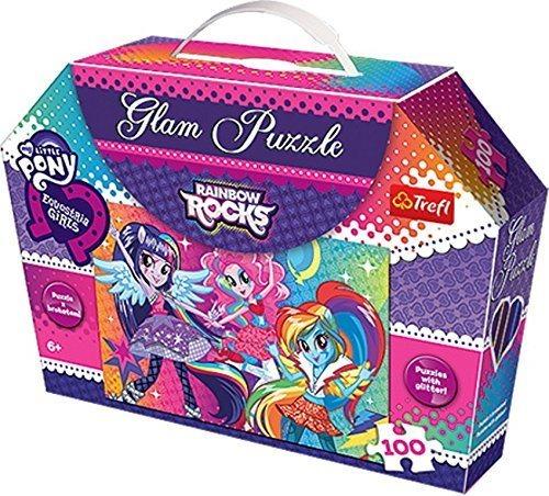 TREFL Třpytivé puzzle Equestria Girls 100 dílků