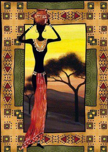 CLEMENTONI Puzzle s pískovým povrchem Afrika: Etnic 500 dílků