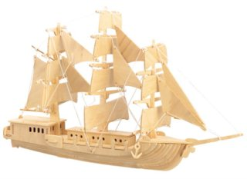 3D dřevěné puzzle Evropská plachetnice