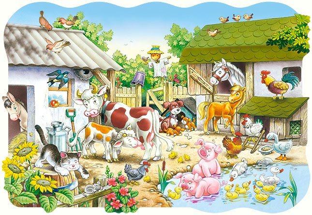 CASTORLAND Puzzle Farma MAXI 20 dílků
