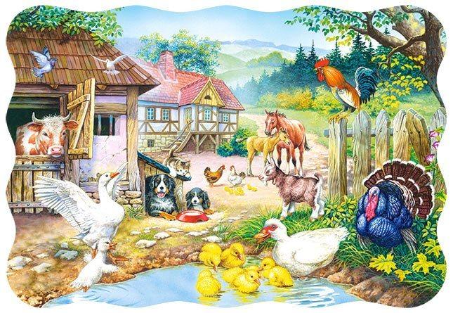 CASTORLAND Puzzle Farma 30 dílků