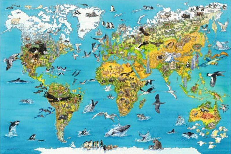Puzzle RAVENSBURGER 5000 dílků - Fascinující mapa světa