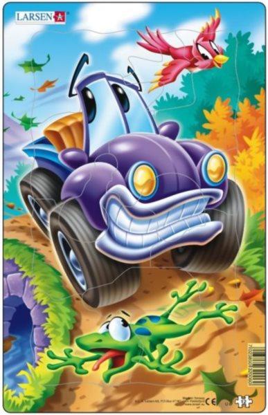 LARSEN Puzzle Fialové auto 12 dílků