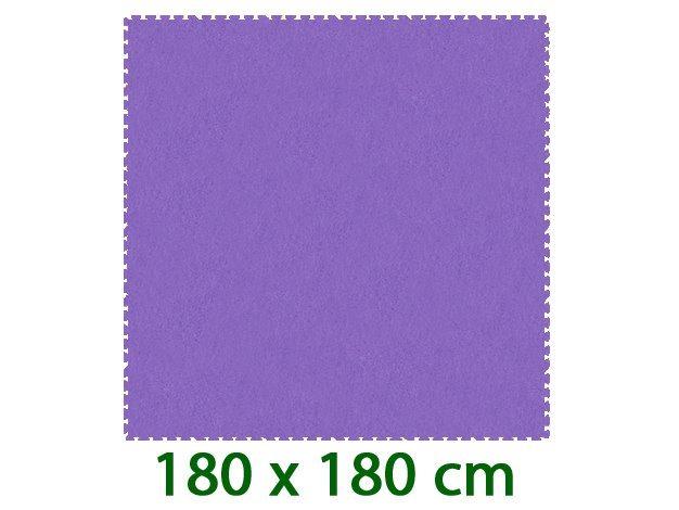 Fialový pěnový koberec MALÝ GÉNIUS XL (díl 60x60cm) - 9 dílů, 8mm