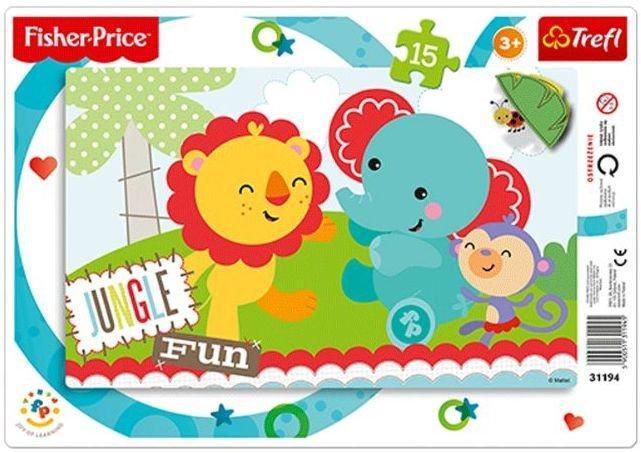 TREFL Puzzle Fisher Price Legrace v džungli 15 dílků