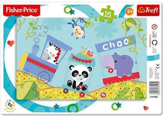 TREFL Puzzle Fisher Price Veselý vláček 15 dílků