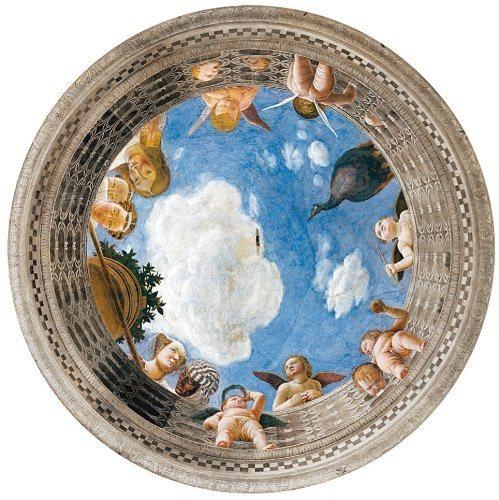 CLEMENTONI Kulaté puzzle Dožecí palác - freska 500 dílků
