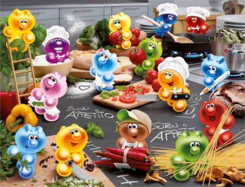 RAVENSBURGER Puzzle Gelini: Vášeň v kuchyni 2000 dílků