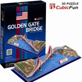3D puzzle CUBICFUN - Golden Gate Bridge 3D