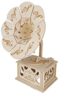 WOODEN TOY / WCK 3D puzzle Gramofón