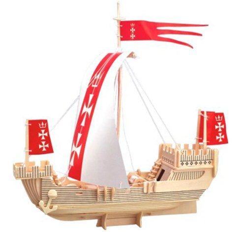 WOODEN TOY , WCK 3D puzzle Hanzovní loď koga