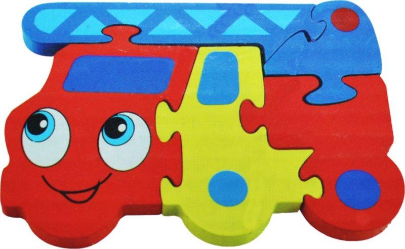 Dřevěné puzzle pro nejmenší, Hasiči 2
