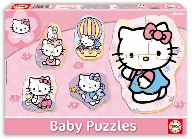 EDUCA Baby puzzle Hello Kitty 5v1 (3-5 dílků)