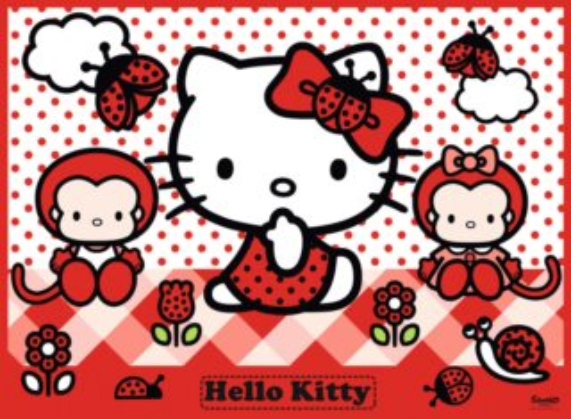 Dětské puzzle RAVENSBURGER 150 dílků - Hello Kitty: Na venkově XXL