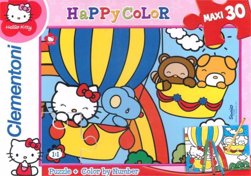 CLEMENTONI Puzzle Hello Kitty v balónu 30 dílků