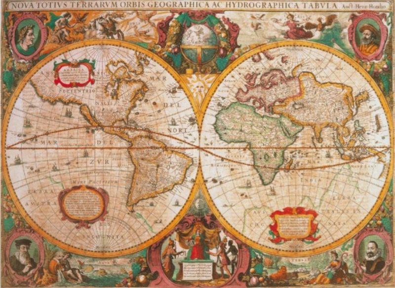 CLEMENTONI Puzzle Historická mapa 1000 dílků