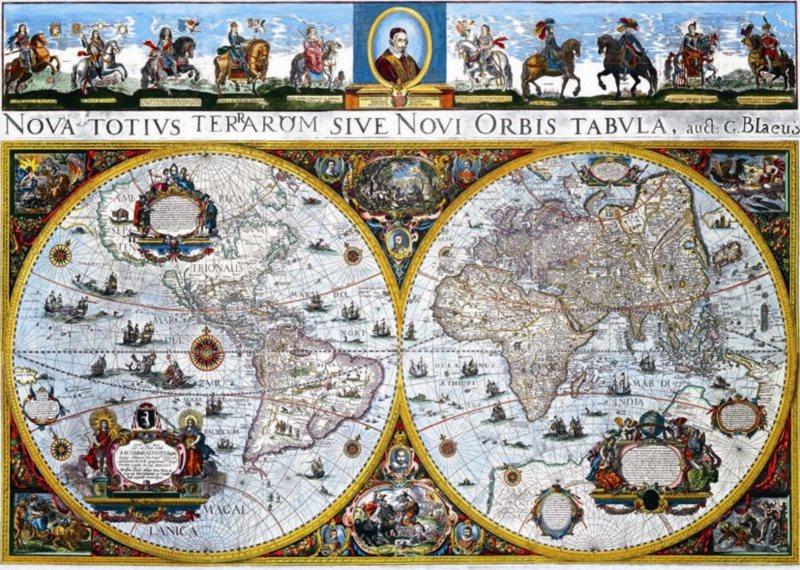 Puzzle DINO 1500 dílků - Historická mapa