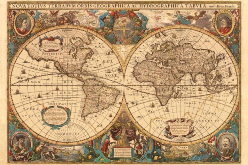 Puzzle RAVENSBURGER 5000 dílků - Historická mapa r.1630