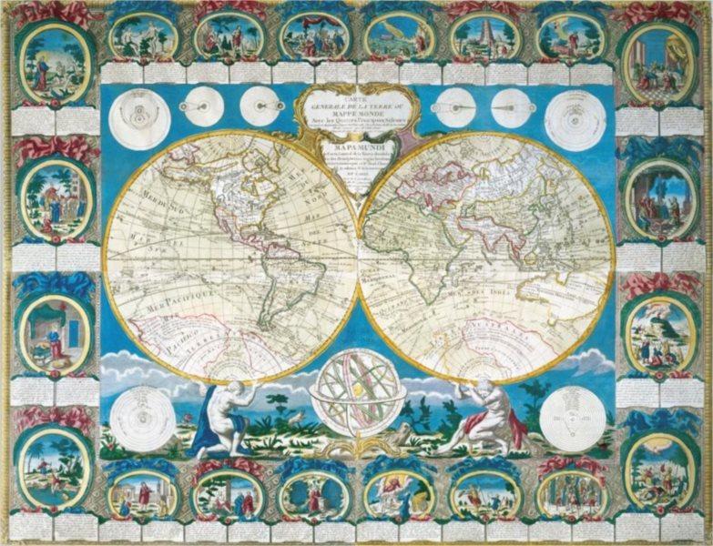 Puzzle RAVENSBURGER 2000 dílků - Historická mapa světa