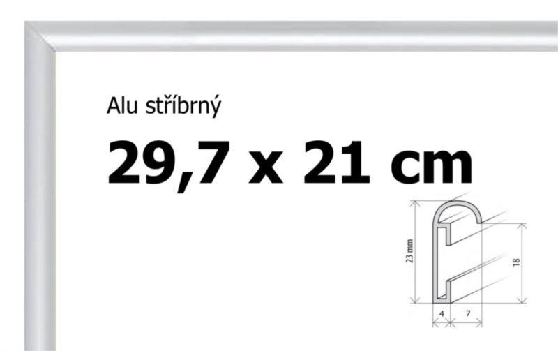 BFHM Hliníkový rám 29,7x21cm A4 - stříbrný