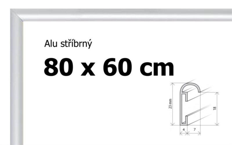 BFHM Hliníkový rám na puzzle 80x60cm - stříbrný