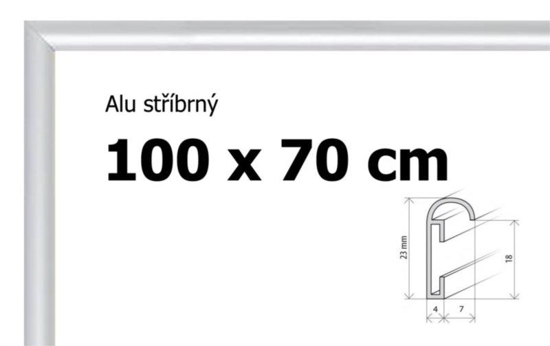 BFHM Hliníkový rám na puzzle 100x70cm - stříbrný