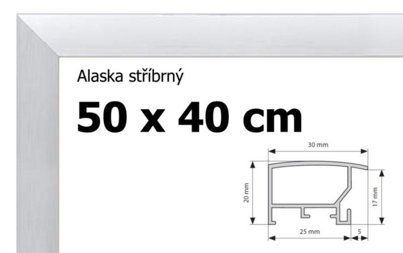 BFHM Alaska hliníkový rám na puzzle 50x40cm - stříbrný