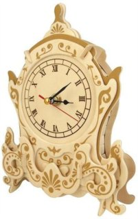 WOODEN TOY , WCK 3D puzzle Hodiny F006