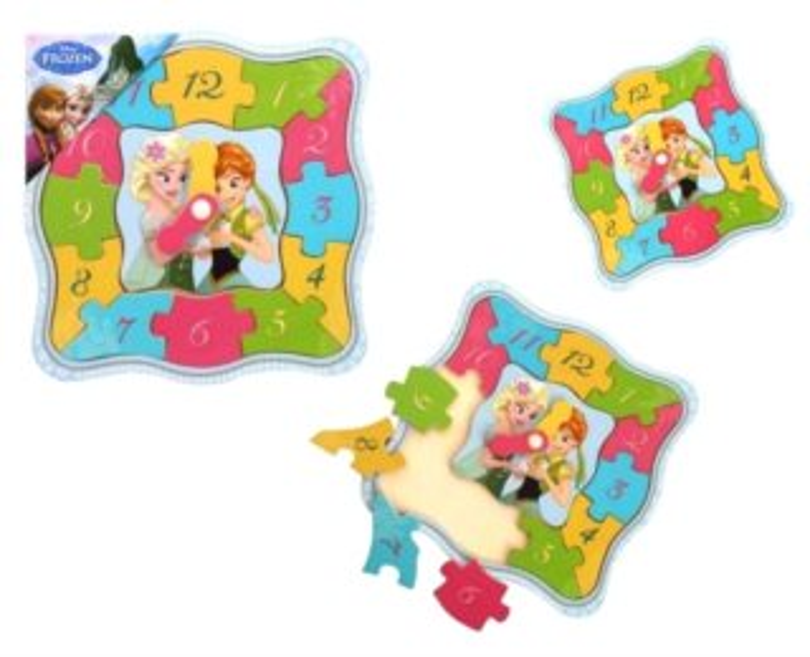 PLAYME Hodiny - puzzle Anna a Elsa