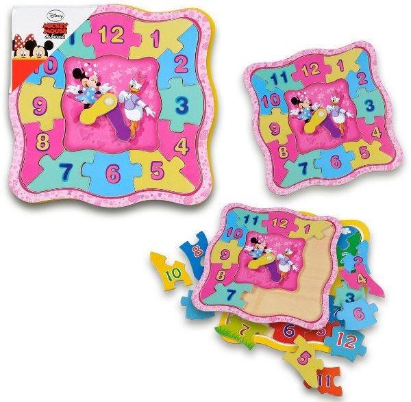 PLAYME Hodiny - puzzle Minnie a Daisy
