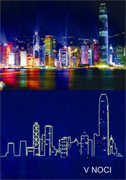 Svítící puzzle DINO 1000 dílků - Hong Kong
