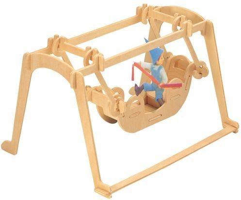 3D dřevěné puzzle Houpačka