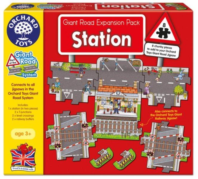 ORCHARD TOYS Hrací puzzle Vlakové nádraží