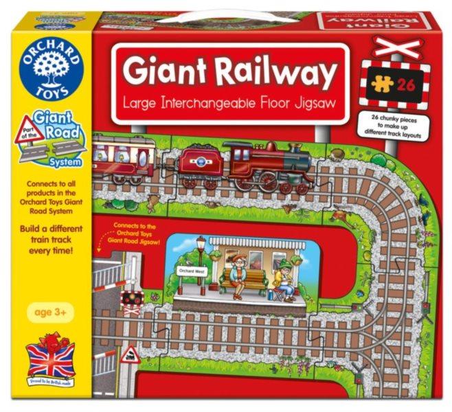 ORCHARD TOYS Hrací puzzle Železnice