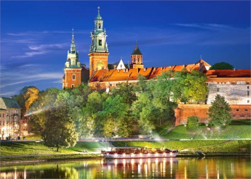 Puzzle CASTORLAND 1000 dílků - Zámek Wawel, Krakov