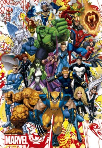 Puzzle EDUCA 500 dílků - Hrdinové Marvel