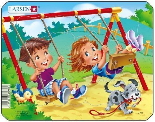 Dětské puzzle LARSEN 7 dílků - Hřiště - houpačky
