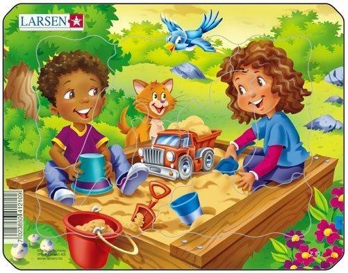 Dětské puzzle LARSEN 7 dílků - Hřiště - pískoviště