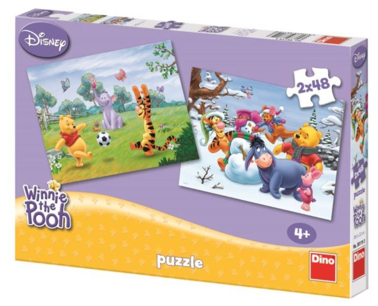 Puzzle DINO - Hry Medvídka Pú 2x48 dílků