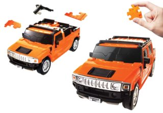 HAPPY WELL 3D Puzzle Hummer 1:32 oranžový