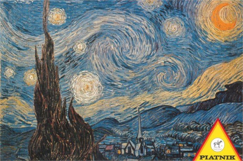 Puzzle PIATNIK 1000 dílků - V. Gogh: Hvězdná noc