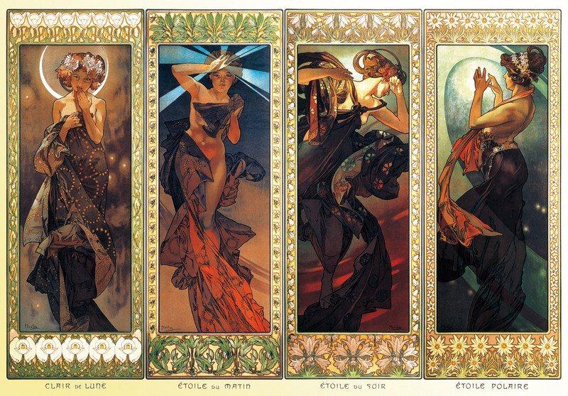 Puzzle ZDEKO 2000 dílků - Alfons Mucha, Hvězdy