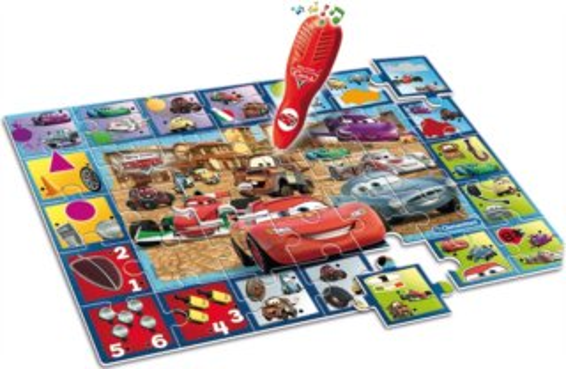 Interaktivní puzzle s el. perem Auta (Cars) 35 dílků