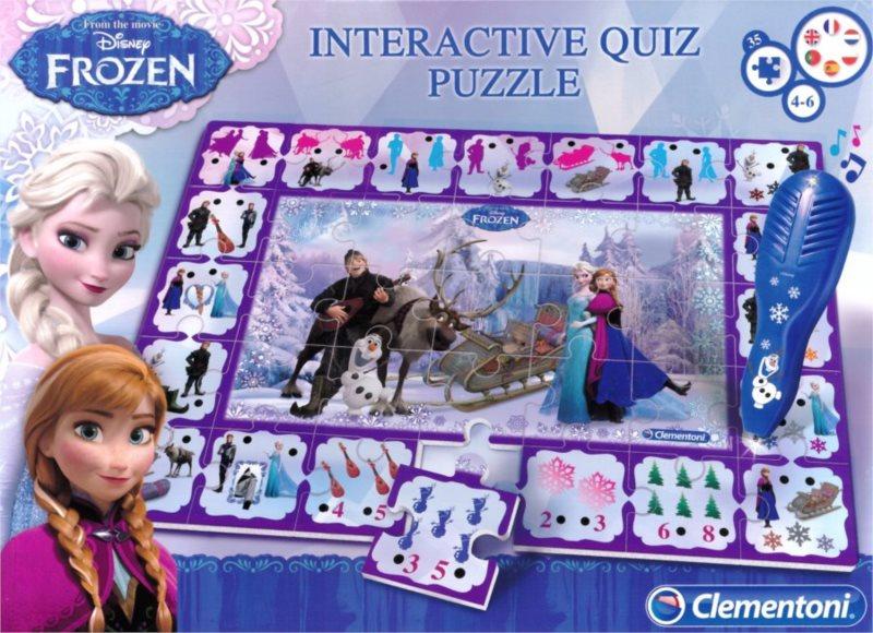 CLEMENTONI Interaktivní puzzle Ledové království 35 dílků