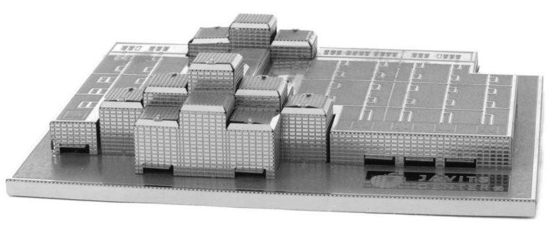 3D kovové puzzle METAL EARTH Jacob Javits Kongresové centrum, New York