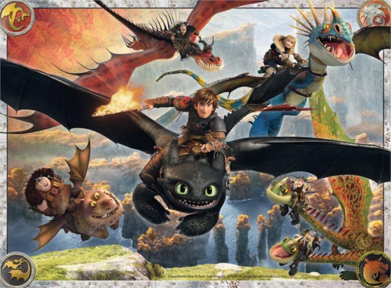 RAVENSBURGER Puzzle Jak vycvičit draka: Dobří draci XXL 150 dílků