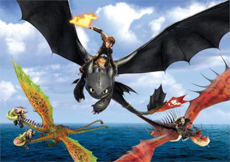 ALEXANDER puzzle Maxi Jak vycvičit draka 2 Let nad mořem 20 dílků