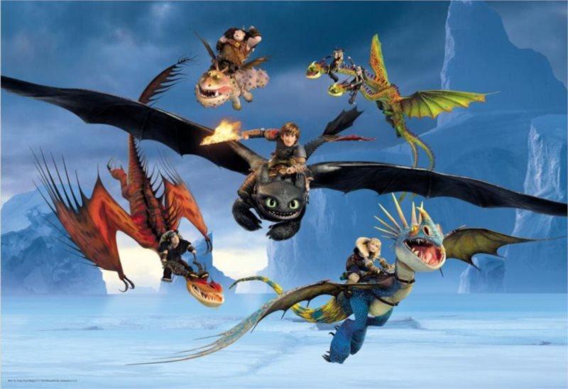 Dětské puzzle Gigant 36 dílků - Jak vycvičit draka 2: Zima!